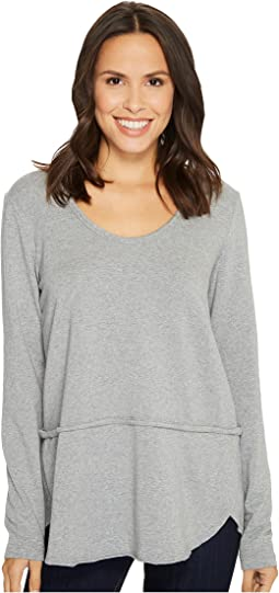 Cotton Modal Fleece Rounded Hem Long Sleeve Pullover
