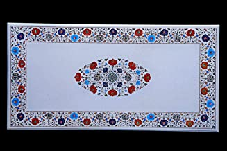 Handicraft Store Marble Inlay Table Top for Coffee Table, Side Table, End Table, Patio Table and Home Decor