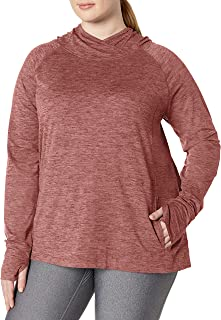 Women's Plus Size Brushed Tech Stretch Popover Hood