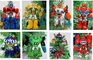 TRANSFORMERS Christmas Tree Ornament Set - Plastic Shatterproof Ornaments Ranging from 4