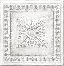 ورق جدران من القصدير المعاد تدويره NU2495 من NuWallpaper ، أبيض واوف وايت