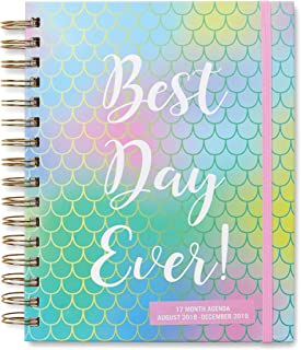2018-2019 Daily Calendar Agenda and Planner: Track Appointments, Tasks and Increase Productivity with 17-Month Daily and Weekly Personal Organizer for Home or Office -