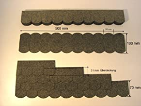 Grand kit de tuiles Mini alsacien 50,0/cmx14,5/cm Gris 23.413