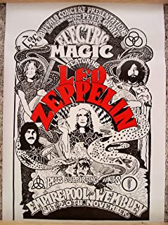 led zeppelin electric magic poster