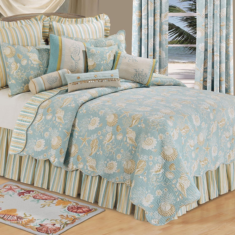 Excellent CF Home Natural Max 49% OFF Shells King Quilt Reversible 100% Cotton Bedspr