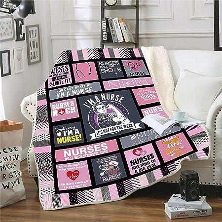 Details about  /Proud Retired Nurse Sofa Quilt Blanket Decorative Blanketed Artwork Sherpa Quilt
