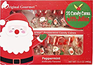 Original Gourmet 20 Peppermint Candy Canes with Jellies Gift Set 15.5 oz.