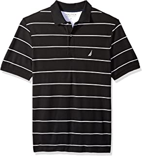 Nautica Men's Big and Tall Classic Short Sleeve Striped Polo Shirt