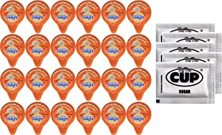 International Delight Pumpkin Pie Spice Creamer 24 Limited Edition Single Cups with By The Cup Sugar Packets