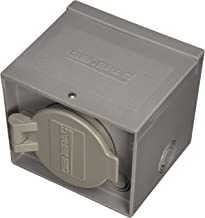 Generac 6340 30-Amp 125/250V Raintight Power Inlet Box with Spring-Loaded Flip Lid