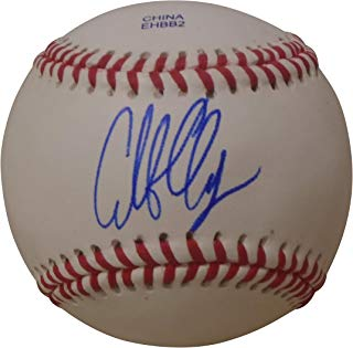 Los Angeles Angels Caleb Clay Autographed Hand Signed Baseball with Proof Photo, Boston Red Sox, Hanwha Eagles, COA