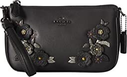 Metal Tea Rose Detail Nolita Wristlet 19