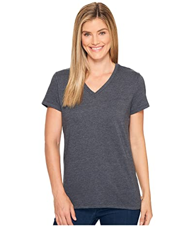 Carhartt Lockhart Short Sleeve V-Neck T-Shirt (Carbon Heather) Women