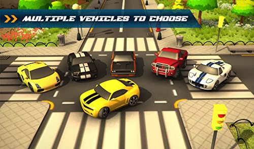 『Traffic Toon Racer : Hi Speed Real Escape Racing Rivals in City Road Pro』の3枚目の画像