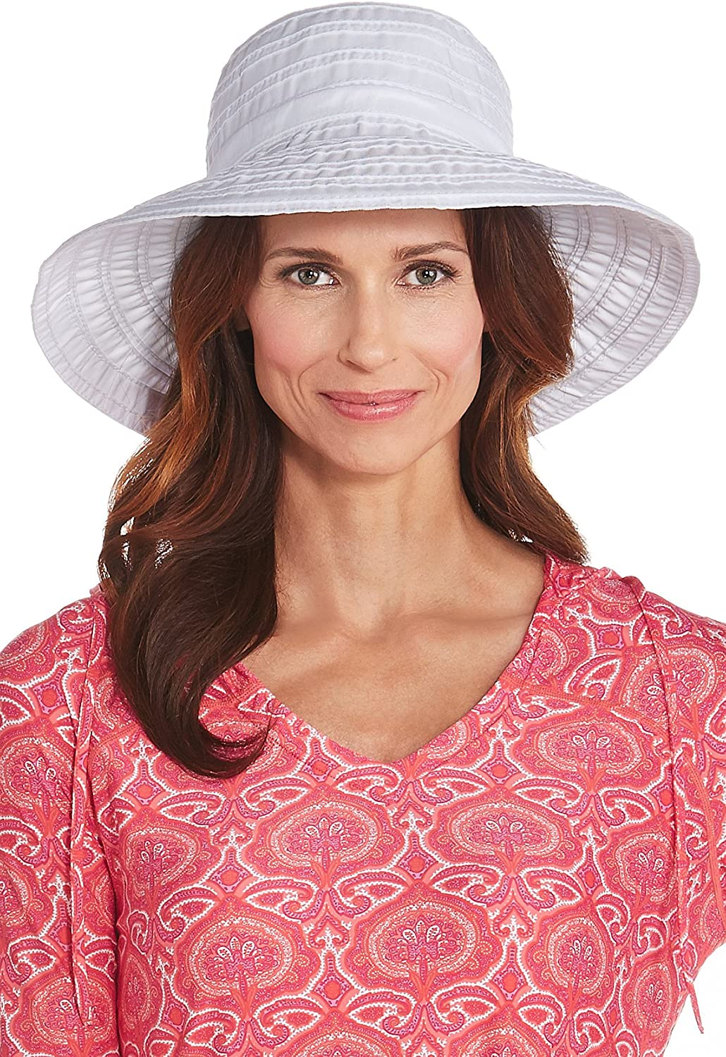Coolibar UPF 50+ Women's Ingrid Ribbon Hat  Sun Predective