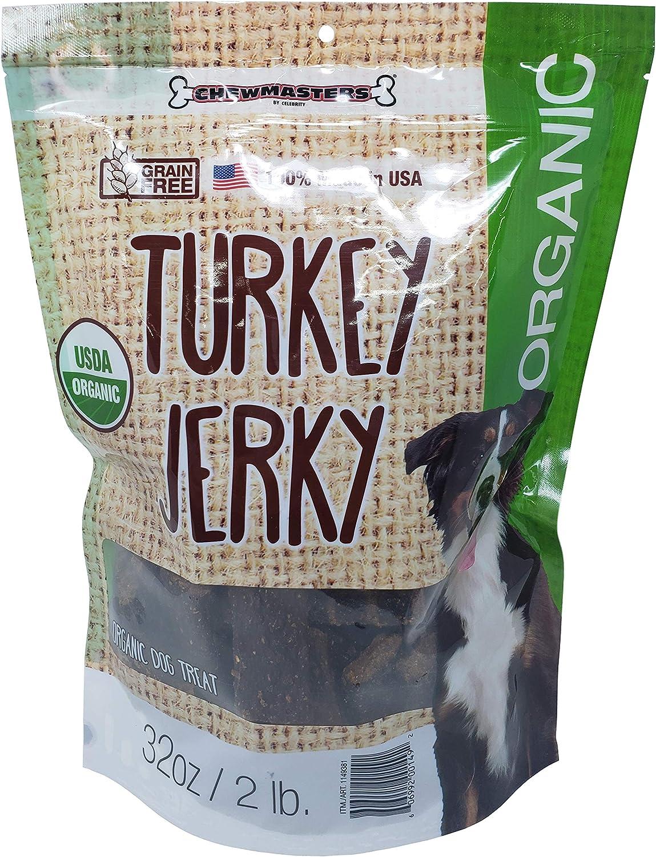 Chewmasters Turkey Jerky Organic Dog Treat Grain Free 2 LB