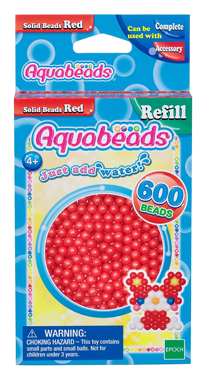 Aquabeads Solid Bead Refill Pack, Red
