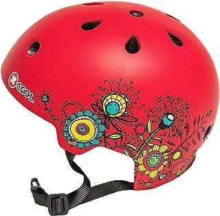 Medium Red with Flowers XCOOL Helmet