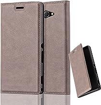 Cadorabo Funda Libro para Sony Xperia M2 Aqua en MARRÓN CAFÉ – Cubierta Proteccíon con Cierre Magnético, Tarjetero y Función de Suporte – Etui Case Cover Carcasa