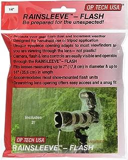 OP/TECH USA 9001142 Rainsleeve - Flash, 2-Pack (Clear)