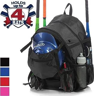 Athletico Advantage Baseball Bag - Baseball Backpack with External Helmet Holder for Baseball, T-Ball & Softball Equipment & Gear for Youth and Adults   Holds Bat, Helmet, Glove, Shoes
