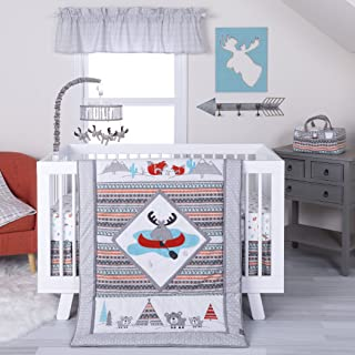 Trend Lab Moose Canoe 4Piece Crib Bedding Set