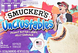 Smucker's Uncrustables Peanut Butter & Grape Jelly Sandwiches, 4 Count (Frozen)