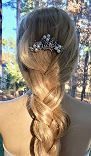 Pearl Wedding Comb, Art Deco Headpiece