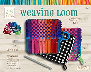 Make Your Own Potholders Weaving Loom Kit Arts and Crafts Kit for Kids Girls and Boys Ages 6 7 8 9 10 11 12 13 Years Old a...