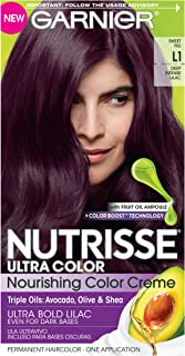 Garnier Nutrisse Ultra Color Nourishing Permanent Hair Color Cream, L1 Deep Intense Lilac Sweet Fig (1 Kit) Purple Hair Dye (Packaging May Vary),1 Count
