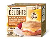 Jimmy Dean, Delights Honey Wheat Muffin Sandwiches, Canadian Bacon, 4 ct (frozen)