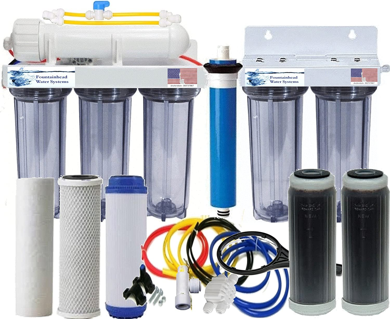 Deluxe RO Louisville-Jefferson County Mall DI Reverse Osmosis Aquarium Reef Man Clear All Dual System