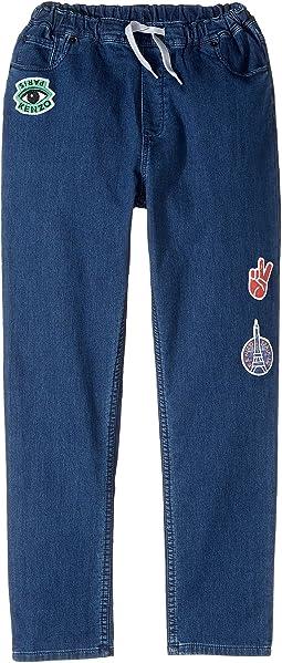 Kenzo Kids - Denim Emojis Pants (Big Kids)