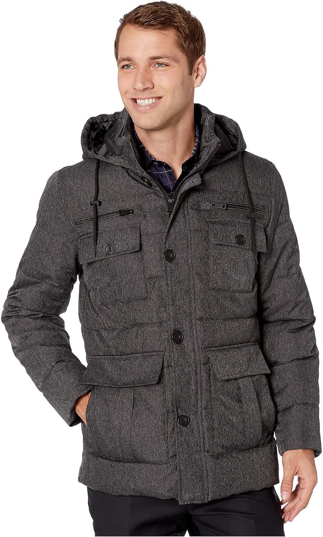 Kenneth Cole New York Men's Down Alternative Coat, Dark Grey, X-Large