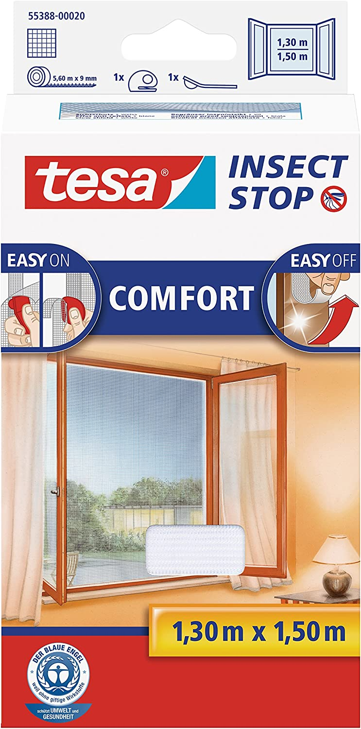 TESA Insect Stop Comfort - mosquito nets (141 g, 1300 x 10 x 1500 mm, ABS sintéticos, Blanco, 454 g)