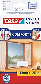 TESA Insect Stop Comfort red anti mosquitos Ventana Blanco - Mosquiteras (1300 x 10 x 1500 mm, 141 g, Blanco, 454 g)
