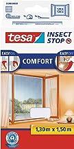 tesa Insect Stop Comfort Vliegenhor voor Ramen - Insectenhor, raamhor - Met klittenband - Snijd op maat - Zonder boren - M...
