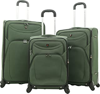 Travelers Club Expandable Spinner Luggage, Forest Green