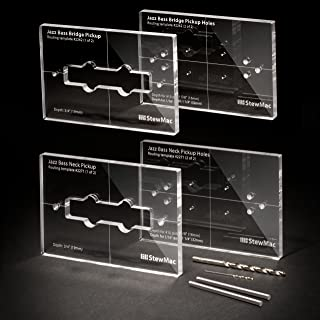 StewMac Pickup Routing Templates for Jazz Bass, Complete Set of 4 Templates for Neck and Bridge Pickups