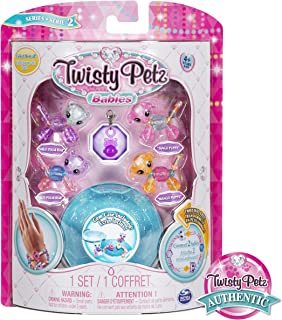 Twisty Petz, Series 2 Babies 4-Pack, Polar Bears and Puppies Collectible Bracelet and Case (Blue) for Kids
