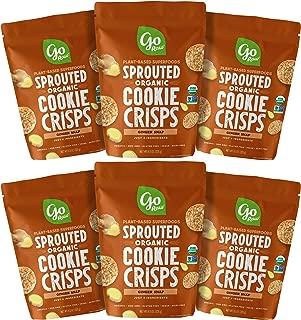 Go Raw Organic Cookie Crisps, Ginger Snap, 3 oz. Bags (Pack of 6) — Superfood   Paleo   Gluten Free Snack Crisps   Vegan