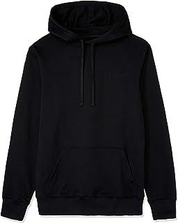 CALVIN KLEIN Jeans Men's Institutional Back Logo Hoodie, Ck Black/Bright White, M