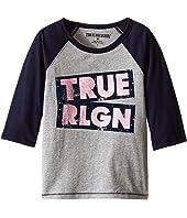 True Religion Kids - Long Sleeve Raglan Tee Shirt (Toddler/Little Kids)