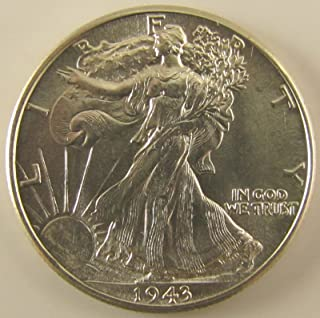 1943 Walking Liberty Half Dollar About Uncirculated