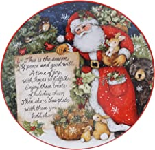 طبق تقديم طعام على شكل سانتا باص عيد الميلاد من شركة Certified International Magic Of Christmas، متعدد الألوان