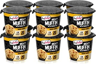 FlapJacked Mighty Muffins, Banana Caramel, 12 Pack | High Protein (20g) + Probiotics