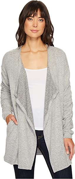 B Collection by Bobeau - Delanie Rouched Sleeve Cardigan