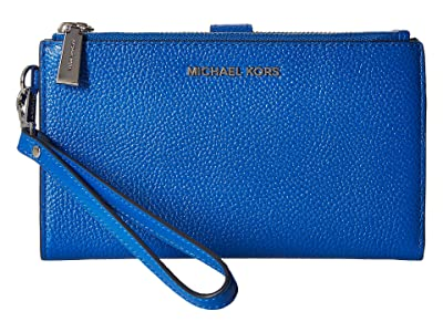 MICHAEL Michael Kors Double Zip Wristlet (Grecian Blue) Wristlet Handbags