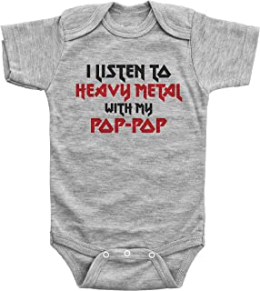 Unisex Baby Short Sleeve Onesies Rock and Roll Symbol Cotton Bodysuit Crew Neck 3-24 Months
