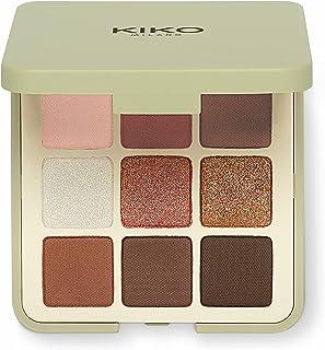 KIKO Milano Green Me Eyeshadow Palette 101 | Palet met 9 multifinish kleuren oogschaduw: mat, gepareld en metallic